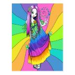 """""""Chloe"""" Rainbow Peace Hippie Fairy Postcard"""