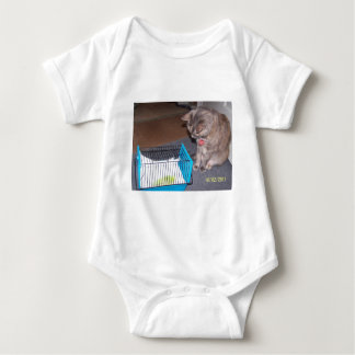 Chloe the Cat Helping you to relax Baby Bodysuit