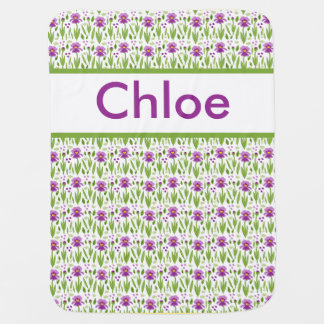 Chloe's Personalized Iris Blanket Swaddle Blanket