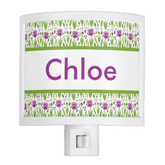 Chloe's Personalized Iris  Night Light