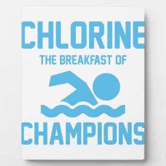 Chlorine for Breakfast Plaque
