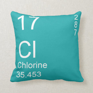 Chlorine Throw Pillow