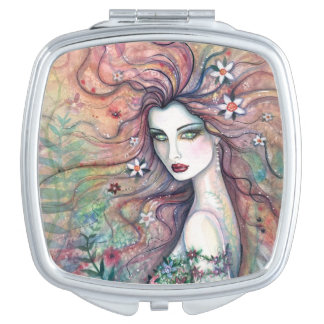 Chloris Goddess of Flowers Fantasy Art Makeup Mirror