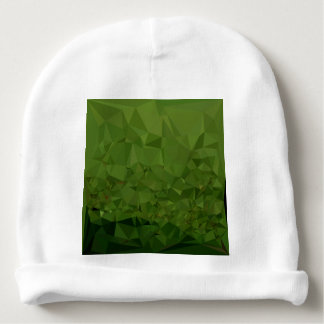 Chlorophyll Green Abstract Low Polygon Background Baby Beanie