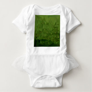 Chlorophyll Green Abstract Low Polygon Background Baby Bodysuit
