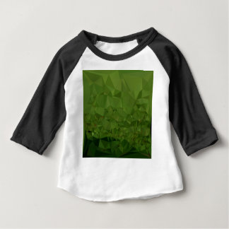 Chlorophyll Green Abstract Low Polygon Background Baby T-Shirt