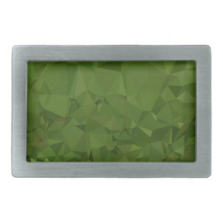 Chlorophyll Green Abstract Low Polygon Background Belt Buckle