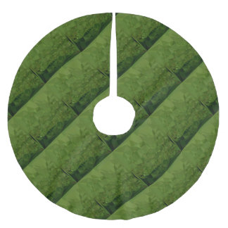 Chlorophyll Green Abstract Low Polygon Background Brushed Polyester Tree Skirt