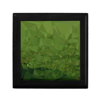Chlorophyll Green Abstract Low Polygon Background Gift Box