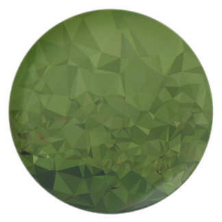 Chlorophyll Green Abstract Low Polygon Background Plate