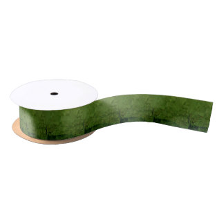 Chlorophyll Green Abstract Low Polygon Background Satin Ribbon