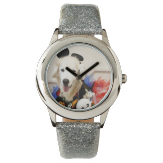 CHO CHO Vintage Leather Strap with Black Leather Watch