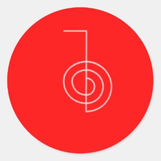 Cho Ku REi red Classic Round Sticker