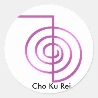 Cho Ku Rei Reiki Healing Symbol Classic Round Sticker