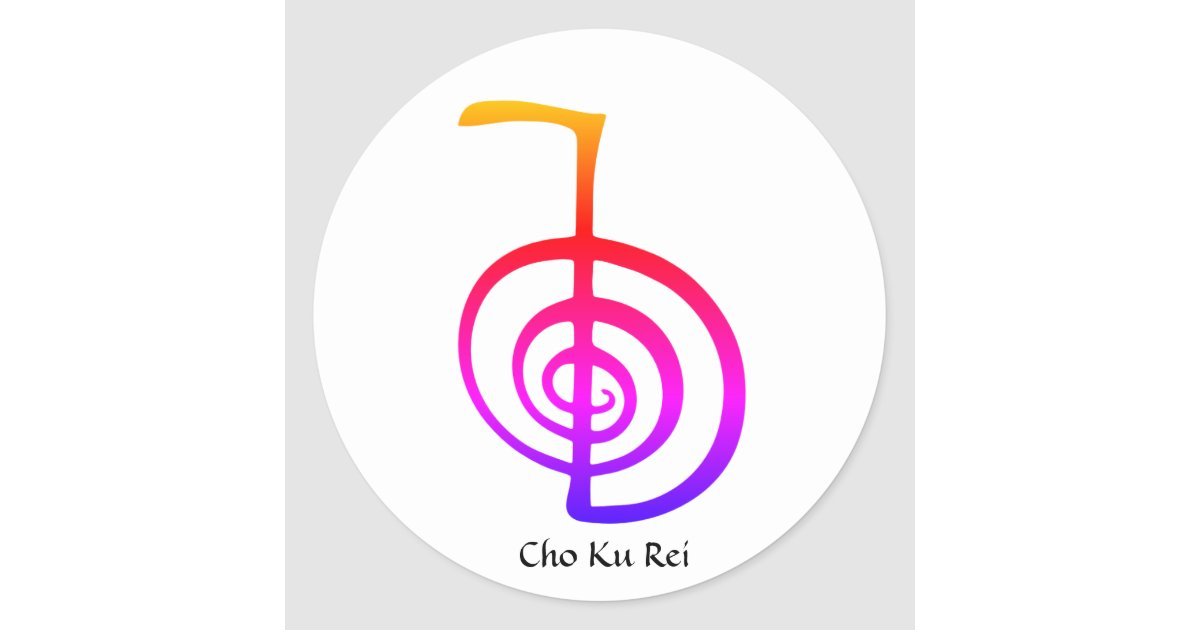 Cho Ku Rei Reiki Power Symbol Rainbow Stickers Zazzle
