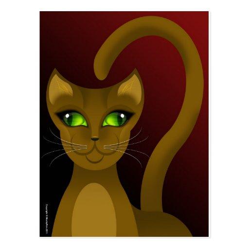 CHO-SING CAT POSTCARD