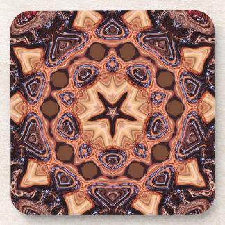 Choc Chip Mandala Geometry : Set of 6 Beverage Coaster
