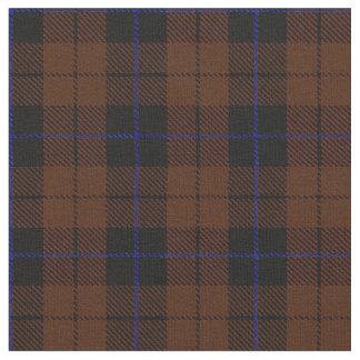 Chocholate Dark brown plaid with blue stripe black Fabric