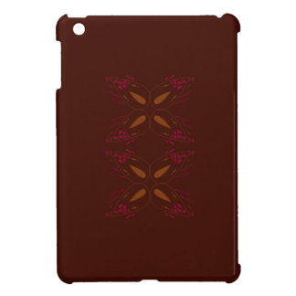 Choco design elements gold on brown iPad mini cases
