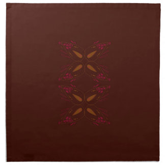 Choco design elements gold on brown napkin