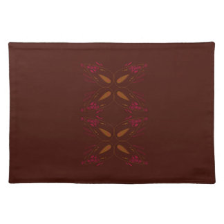 Choco design elements gold on brown placemat