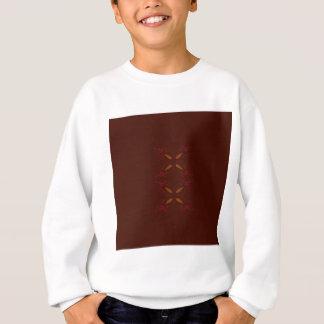 Choco design elements gold on brown sweatshirt