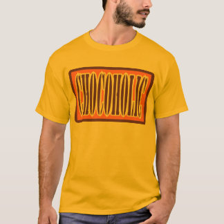 Chocoholic, Candy Bar Wrapper Style T-Shirt