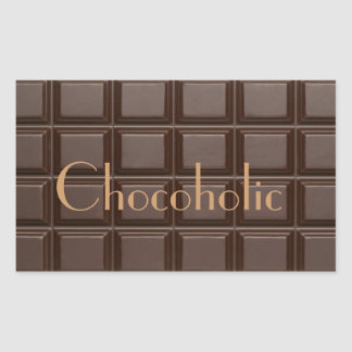 Chocoholic Chocolate Bar Rectangular Sticker