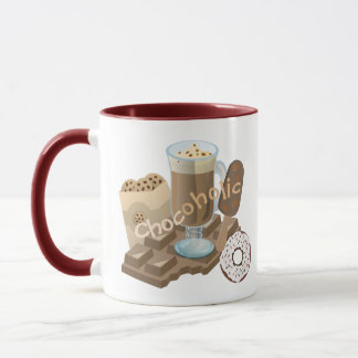 Chocoholic Chocolate Collage Mug
