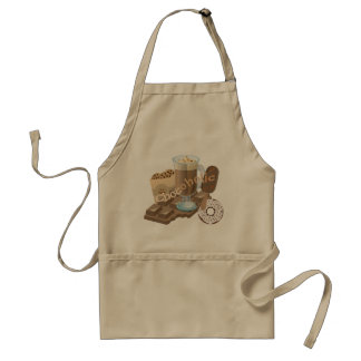 Chocoholic Chocolate Collage Standard Apron