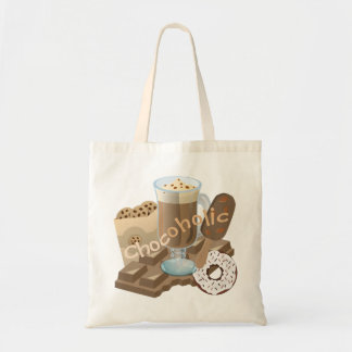 Chocoholic Chocolate Collage Tote Bag
