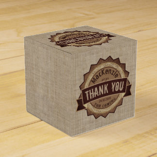 Chocoholic Chocolate Lover Grunge Badge Brown Logo Favor Box