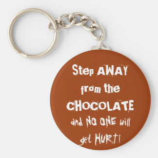 Chocoholic Chocolate Warning Keychain