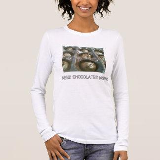 Chocoholic humour long sleeve T-Shirt