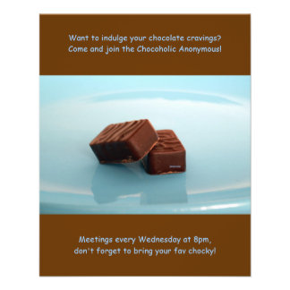 Chocoholics Anonymous meetings Flyer