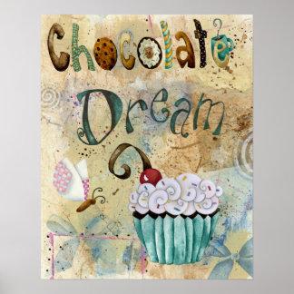 Chocolat 16x20 rêveur poster