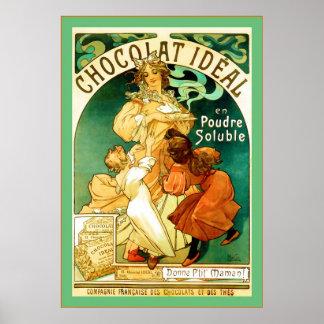 Chocolat ~ Alphonse Mucha ~ Vintage Ad Poster