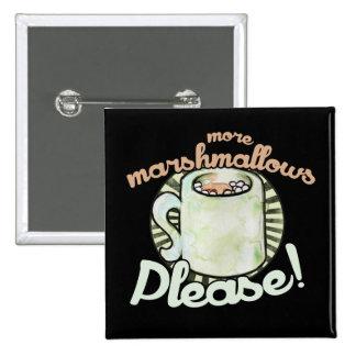 Chocolat chaud avec des guimauves macaron carré 5 cm