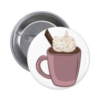 Chocolat chaud macaron rond 5 cm