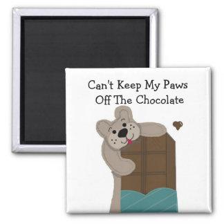 Chocolat de grignotement de nounours magnet carré