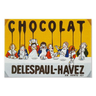 Chocolat Delespaul Havez French advertisement Poster