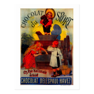 Chocolat du Sport Vintage PosterEurope Postcard