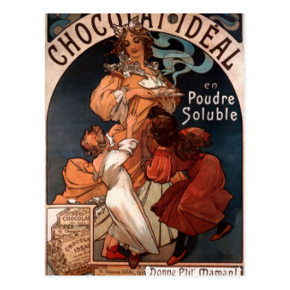 Chocolat Ideal by Alphonse Mucha Postcard