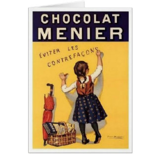 chocolat menier ad card