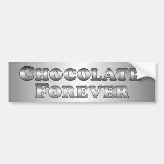 Chocolat pour toujours - de base autocollant de voiture