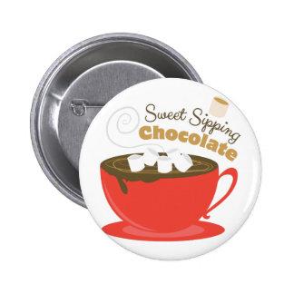 Chocolat sirotant macaron rond 5 cm