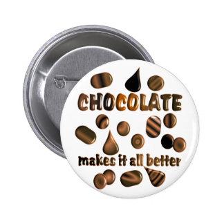 Chocolate 2 Inch Round Button