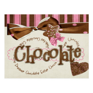 chocolate addiction postcard