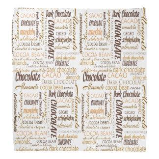 Chocolate, Almonds and Dark Chocolate Text Design Bandana