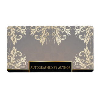 Chocolate and Gold Shipping Label